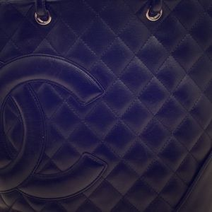 Chanel Quilted Lambskin Ligne Cannon Small Tote